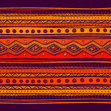 Abstract hand-drawn ethno pattern, tribal Royalty Free Stock Photos