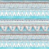 Abstract hand-drawn etnisch patroon, stammenachtergrond Vector patroon blauwe Etnische naadloos royalty-vrije illustratie