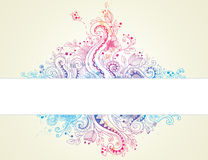 Abstract  hand drawn floral background Royalty Free Stock Photo
