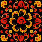 Abstract Hand-Drawn Floral Pattern Stock Photo
