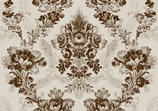 12 Abstract hand-drawn floral seamless pattern vintage Stock Photography
