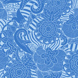 Abstract hand-drawn flower pattern. Background Stock Image