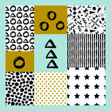 Abstract hand drawn geometric pattern Stock Photography