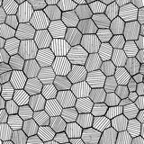 Abstract hand drawn honeycomb Stock Image