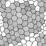 Abstract hand drawn honeycomb Stock Images