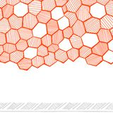 Abstract hand drawn honeycomb Stock Photography