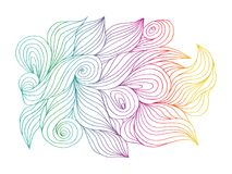 Abstract hand drawn illustration, decotative waves background.  vector illustration
