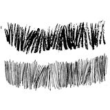 Abstract hand drawn ink strokes. Zig zag free line. Grunge hand painted brushstrokes and zigzag lines with ethnic and tribal motifs. Seamless vector for summer Stock Photo