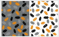 Abstract Hand Drawn Leaves Vector Patterns. Grunge Illustration. vector illustration