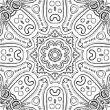 Abstract Hand-drawn Mandala-01 Royalty Free Stock Images