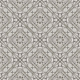 Abstract hand-drawn monochrome seamless pattern Royalty Free Stock Images