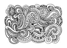 Abstract hand drawn ornament, background for your Stock Images