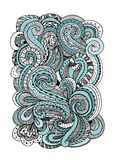 Abstract hand drawn ornament, background for your design Stock Photos