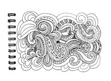 Abstract hand drawn ornament, background for your design Royalty Free Stock Photo