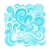 Abstract hand drawn ornament, background for your design Stock Image