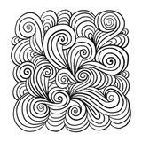 Abstract hand drawn ornament, background for your design Stock Photography