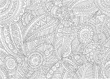 Abstract hand-drawn overzichtspatroon Royalty-vrije Stock Foto