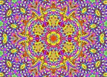 Abstract hand-drawn overzichtspatroon vector illustratie