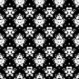 Abstract hand drawn painted monochrome grunge seamless pattern. Black and white colors. Vector illustration for invitation, web, textile, wallpaper, wrapping Royalty Free Stock Image