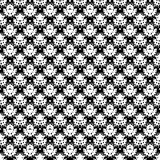 Abstract hand drawn painted monochrome seamless pattern. Black and white colors. Vector illustration for invitation, web, textile, wallpaper, wrapping paper Royalty Free Stock Photos