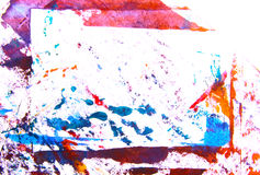 Abstract hand drawn painting / graphics Royalty Free Stock Photos