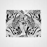 Abstract hand-drawn patroon Stock Foto's
