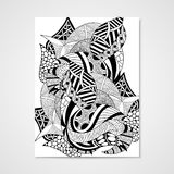 Abstract hand-drawn patroon Royalty-vrije Stock Afbeeldingen