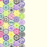 Abstract  hand drawn pattern card art circles. Royalty Free Stock Image