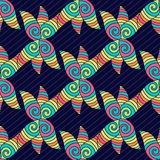 Abstract hand-drawn pattern. Colorful hippie background. Vector coloring texture. Royalty Free Stock Photos