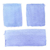 Abstract hand-drawn real watercolor blue background. Watercolor Royalty Free Stock Image