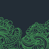 Abstract hand-drawn retro golvenpatroon, golvende achtergrond Vector Illustratie