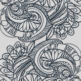 Abstract hand-drawn retro golvenpatroon, golvende achtergrond Vector Stock Illustratie