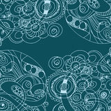 Abstract hand-drawn retro waves pattern, wavy background Royalty Free Stock Photo
