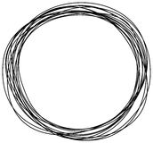 Abstract hand drawn scribble doodle circle Stock Image
