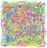 Abstract hand drawn scribble doodle colorful chaos pattern textu Royalty Free Stock Photo