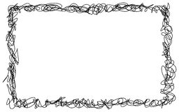 Abstract hand drawn scribble doodle frame Royalty Free Stock Photos