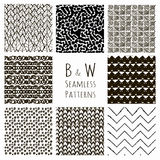 Abstract Hand Drawn Seamless Background Patterns Royalty Free Stock Photography