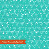Abstract hand-drawn seamless floral pattern. Background retro colors. Vector pattern for web page backgrounds, postcards, greeting cards, invitations, pattern Stock Photos