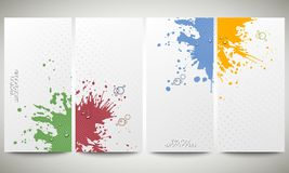 Abstract hand drawn spotted background with empty Royalty Free Stock Image