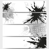 Abstract hand drawn spotted background with empty Stock Photos