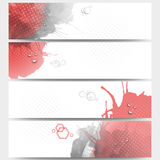 Abstract hand drawn spotted background with empty Stock Image
