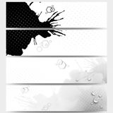 Abstract hand drawn spotted background with empty Royalty Free Stock Photo