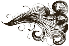 Abstract hand drawn swirl background Royalty Free Stock Photos
