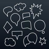 Abstract hand-drawn talking bubbles Stock Photo