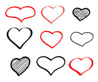 Abstract hand-drawn vector doodle heart Stock Image