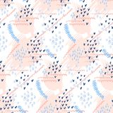 Abstract hand drawn vector seamless pattern background vector illustration