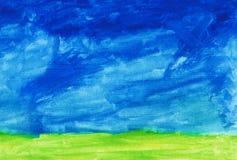 Abstract hand drawn watercolor Stock Photo