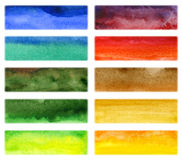Abstract hand drawn watercolor background Stock Photos