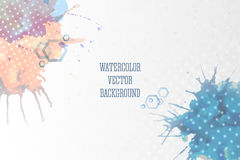 Abstract hand drawn watercolor background with Stock Image