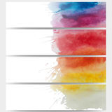 Abstract hand drawn watercolor background with Royalty Free Stock Image